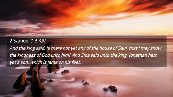 2 Samuel 9:3 KJV 4K Wallpaper - And the king said, Is there not yet any of the - 4K Wallpaper Bible Verse