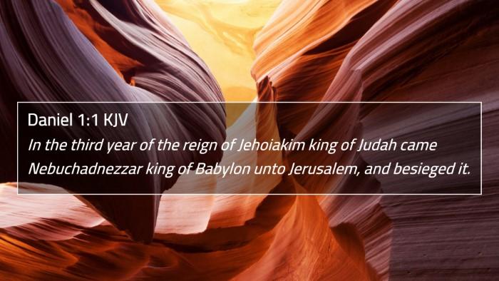 Daniel 1:1 KJV 4K Wallpaper - In the third year of the reign of Jehoiakim king - 4K Wallpaper Bible Verse