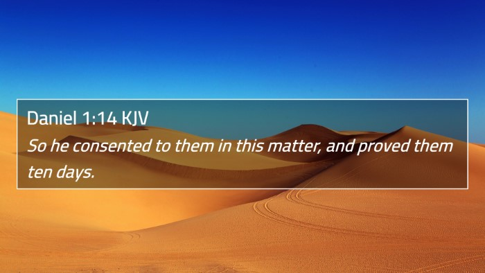 Daniel 1:14 KJV 4K Wallpaper - So he consented to them in this matter, and - 4K Wallpaper Bible Verse