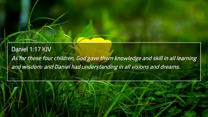 Daniel 1:17 KJV 4K Wallpaper - As for these four children, God gave them - 4K Wallpaper Bible Verse
