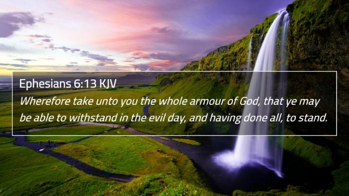 Ephesians 6:13 KJV 4K Wallpaper - Wherefore take unto you the whole armour of God, - 4K Wallpaper Bible Verse