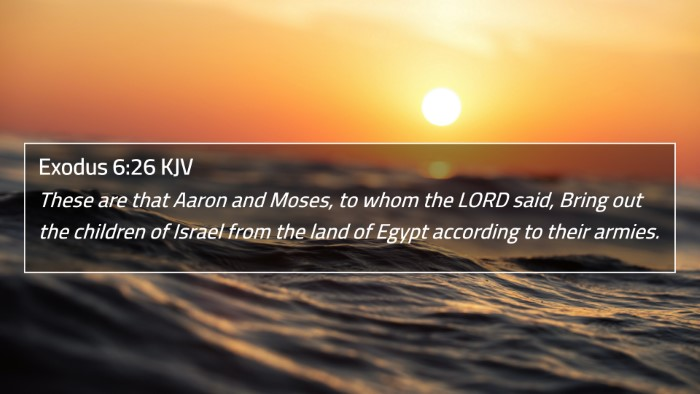 Exodus 6:26 KJV 4K Wallpaper - These are that Aaron and Moses, to whom the LORD - 4K Wallpaper Bible Verse