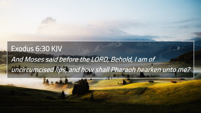 Exodus 6:30 KJV 4K Wallpaper - And Moses said before the LORD, Behold, I am of - 4K Wallpaper Bible Verse