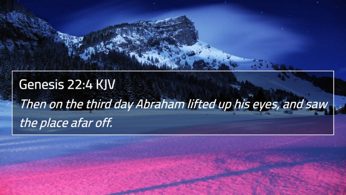 Genesis 22:4 KJV 4K Wallpaper - Then on the third day Abraham lifted up his eyes, - 4K Wallpaper Bible Verse