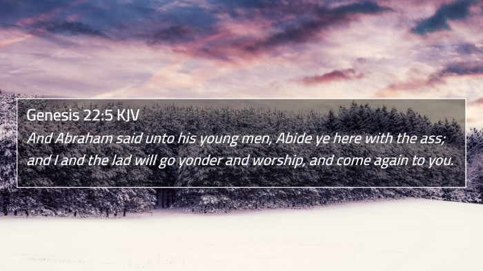 Genesis 22:5 KJV 4K Wallpaper - And Abraham said unto his young men, Abide ye - 4K Wallpaper Bible Verse