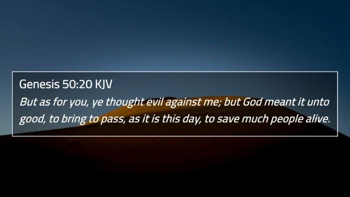 Genesis 50:20 KJV 4K Wallpaper - But as for you, ye thought evil against me; but - 4K Wallpaper Bible Verse