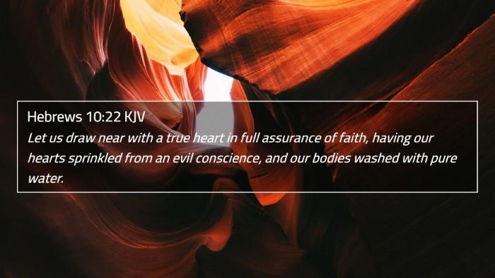 Hebrews 10:22 KJV 4K Wallpaper - Let us draw near with a true heart in full - 4K Wallpaper Bible Verse
