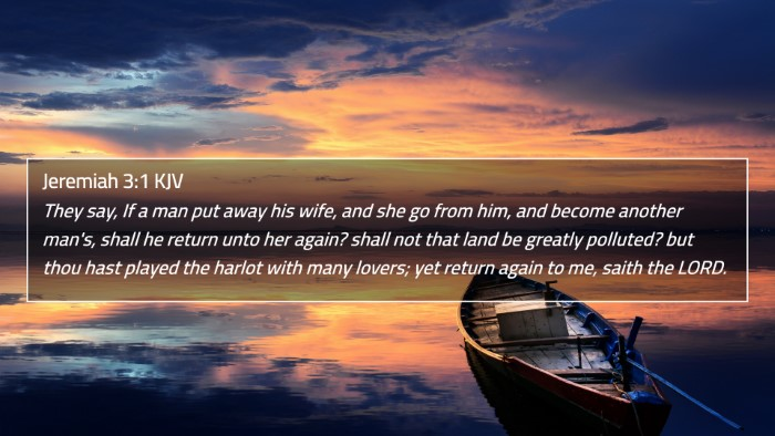 Jeremiah 3:1 KJV 4K Wallpaper - They say, If a man put away his wife, and she go - 4K Wallpaper Bible Verse