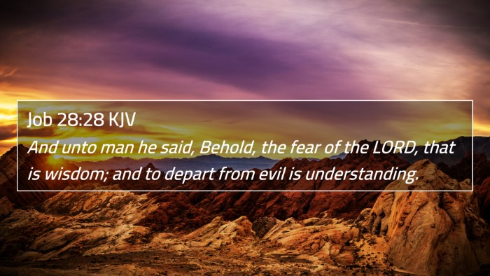 Job 28:28 KJV 4K Wallpaper - And unto man he said, Behold, the fear of the - 4K Wallpaper Bible Verse