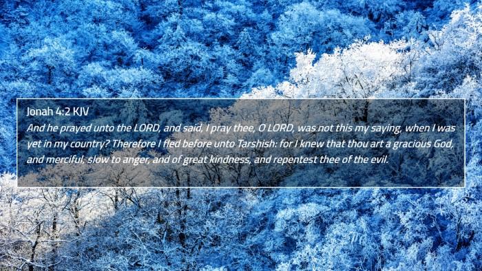 Jonah 4:2 KJV 4K Wallpaper - And he prayed unto the LORD, and said, I pray - 4K Wallpaper Bible Verse