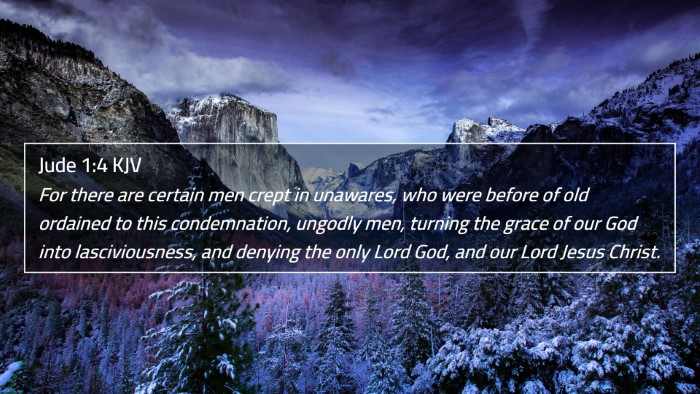 Jude 1:4 KJV 4K Wallpaper - For there are certain men crept in unawares, who - 4K Wallpaper Bible Verse