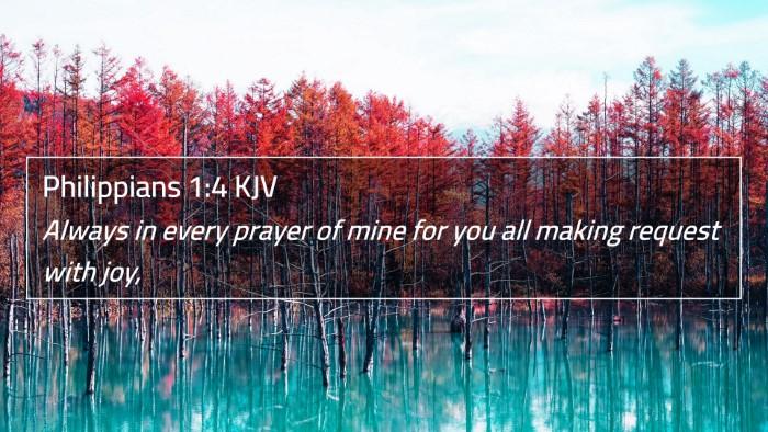 Philippians 1:4 KJV 4K Wallpaper - Always in every prayer of mine for you all making - 4K Wallpaper Bible Verse