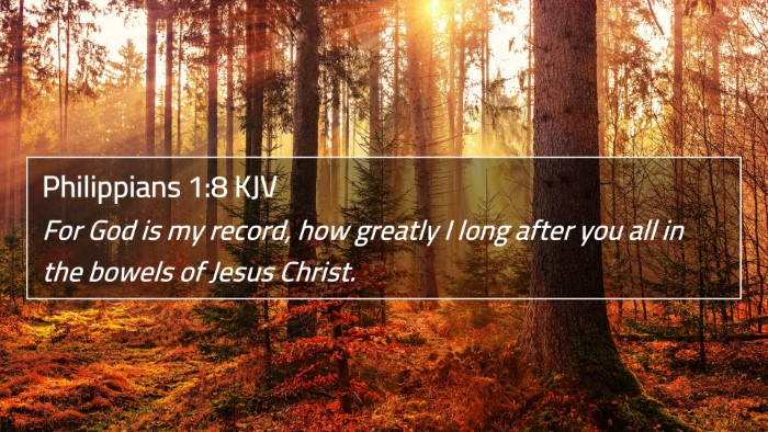 Philippians 1:8 KJV 4K Wallpaper - For God is my record, how greatly I long after - 4K Wallpaper Bible Verse
