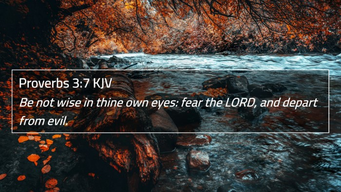 Proverbs 3:7 KJV 4K Wallpaper - Be not wise in thine own eyes: fear the LORD, and - 4K Wallpaper Bible Verse