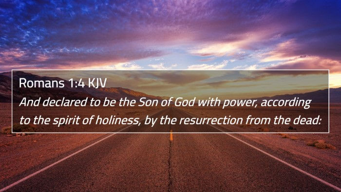 Romans 1:4 KJV 4K Wallpaper - And declared to be the Son of God with power, - 4K Wallpaper Bible Verse