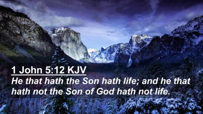 Picture 02 - 1 John 5:12 KJV 4K Wallpaper - He that hath the Son hath life; and he that hath - 4K Wallpaper Bible Verse