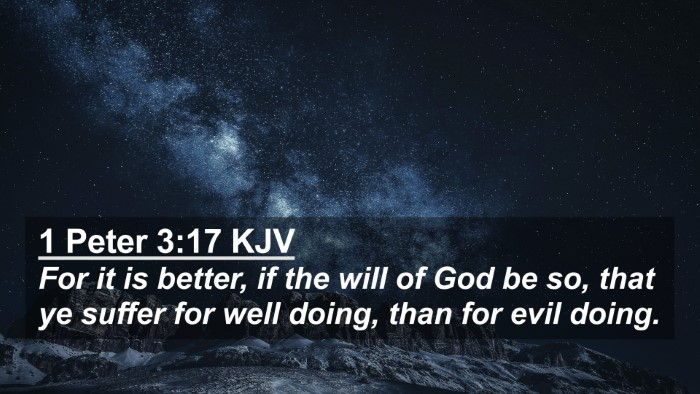 Picture 02 - 1 Peter 3:17 KJV 4K Wallpaper - For it is better, if the will of God be so, that - 4K Wallpaper Bible Verse