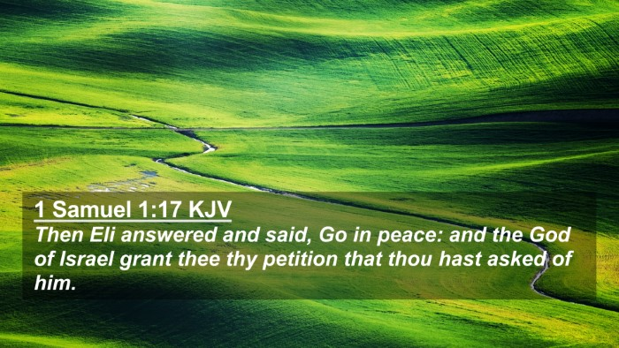 Picture 02 - 1 Samuel 1:17 KJV 4K Wallpaper - Then Eli answered and said, Go in peace: and the - 4K Wallpaper Bible Verse