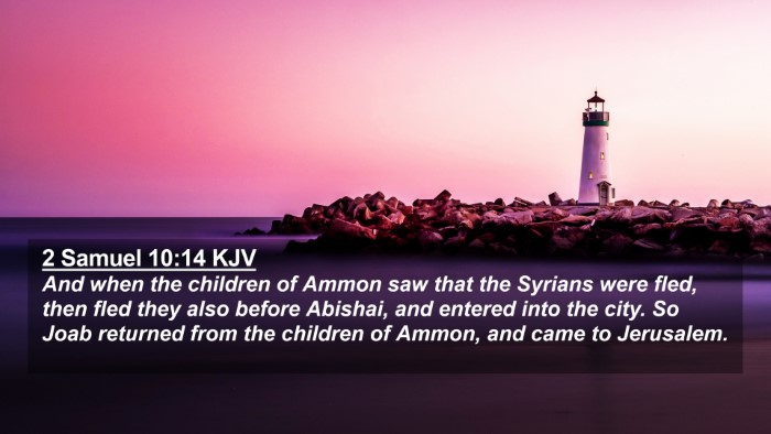 Picture 02 - 2 Samuel 10:14 KJV 4K Wallpaper - And when the children of Ammon saw that the - 4K Wallpaper Bible Verse