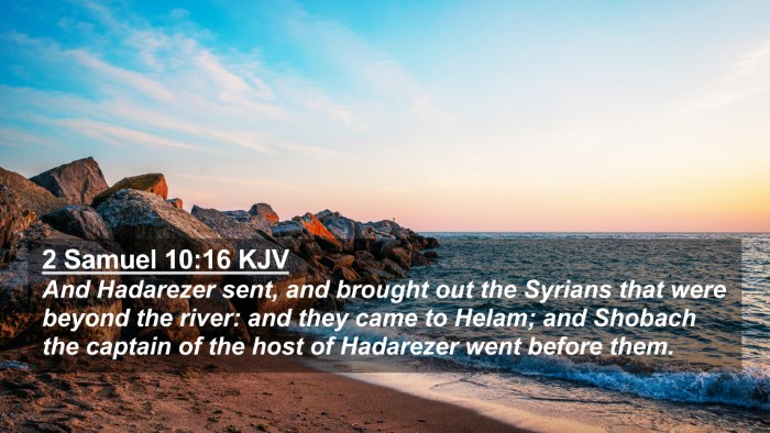 Picture 02 - 2 Samuel 10:16 KJV 4K Wallpaper - And Hadarezer sent, and brought out the Syrians - 4K Wallpaper Bible Verse
