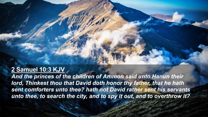 Picture 02 - 2 Samuel 10:3 KJV 4K Wallpaper - And the princes of the children of Ammon said - 4K Wallpaper Bible Verse