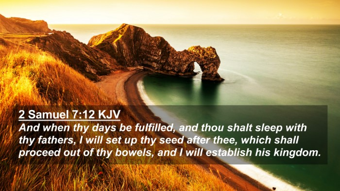 Picture 02 - 2 Samuel 7:12 KJV 4K Wallpaper - And when thy days be fulfilled, and thou shalt - 4K Wallpaper Bible Verse