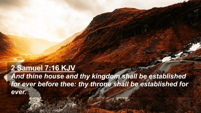Picture 02 - 2 Samuel 7:16 KJV 4K Wallpaper - And thine house and thy kingdom shall be - 4K Wallpaper Bible Verse