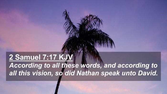 Picture 02 - 2 Samuel 7:17 KJV 4K Wallpaper - According to all these words, and according to - 4K Wallpaper Bible Verse