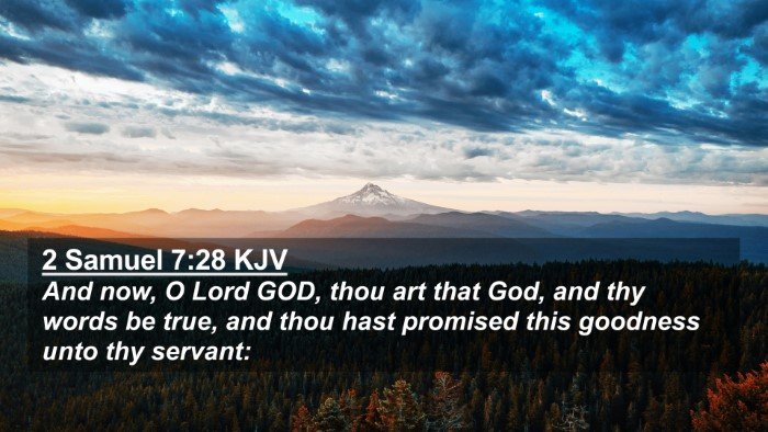 Picture 02 - 2 Samuel 7:28 KJV 4K Wallpaper - And now, O Lord GOD, thou art that God, and thy - 4K Wallpaper Bible Verse