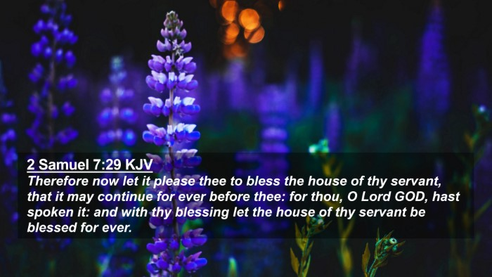Picture 02 - 2 Samuel 7:29 KJV 4K Wallpaper - Therefore now let it please thee to bless the - 4K Wallpaper Bible Verse