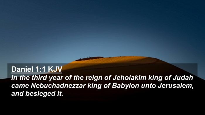 Picture 02 - Daniel 1:1 KJV 4K Wallpaper - In the third year of the reign of Jehoiakim king - 4K Wallpaper Bible Verse