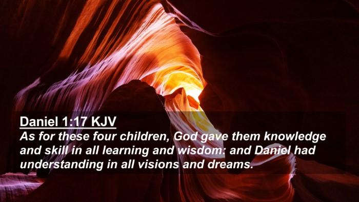 Picture 02 - Daniel 1:17 KJV 4K Wallpaper - As for these four children, God gave them - 4K Wallpaper Bible Verse