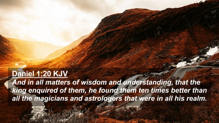 Picture 02 - Daniel 1:20 KJV 4K Wallpaper - And in all matters of wisdom and understanding, - 4K Wallpaper Bible Verse