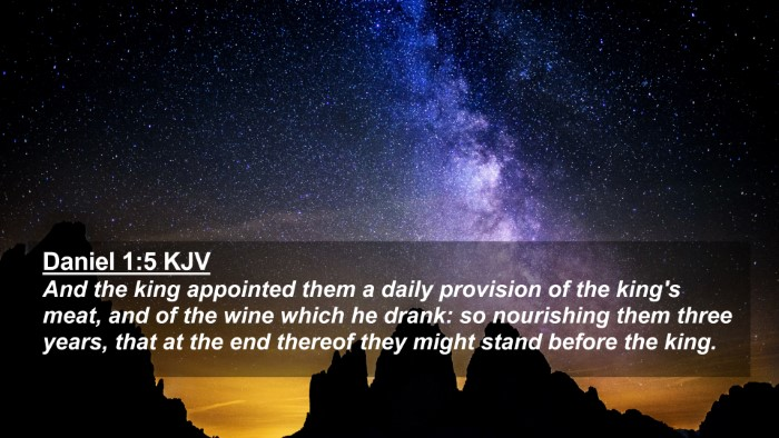 Picture 02 - Daniel 1:5 KJV 4K Wallpaper - And the king appointed them a daily provision of - 4K Wallpaper Bible Verse