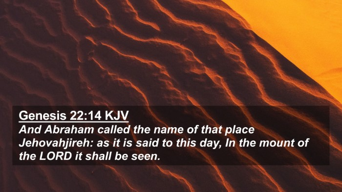 Picture 02 - Genesis 22:14 KJV 4K Wallpaper - And Abraham called the name of that place - 4K Wallpaper Bible Verse