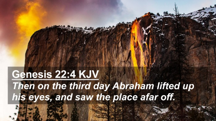 Picture 02 - Genesis 22:4 KJV 4K Wallpaper - Then on the third day Abraham lifted up his eyes, - 4K Wallpaper Bible Verse