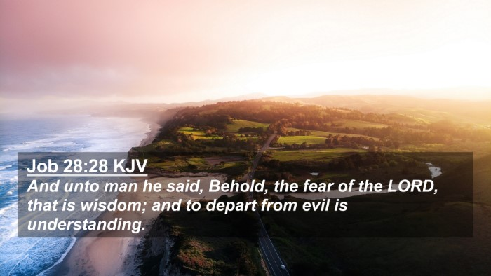 Picture 02 - Job 28:28 KJV 4K Wallpaper - And unto man he said, Behold, the fear of the - 4K Wallpaper Bible Verse