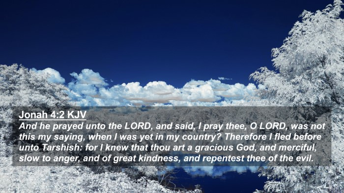 Picture 02 - Jonah 4:2 KJV 4K Wallpaper - And he prayed unto the LORD, and said, I pray - 4K Wallpaper Bible Verse