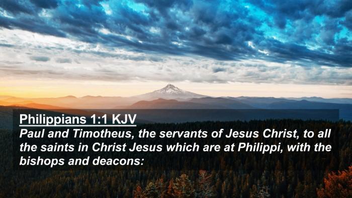 Picture 02 - Philippians 1:1 KJV 4K Wallpaper - Paul and Timotheus, the servants of Jesus Christ, - 4K Wallpaper Bible Verse