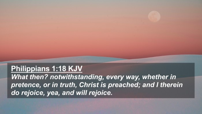 Picture 02 - Philippians 1:18 KJV 4K Wallpaper - What then? notwithstanding, every way, whether in - 4K Wallpaper Bible Verse