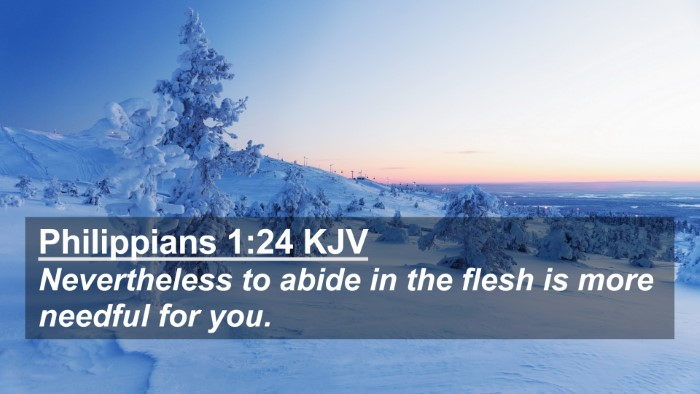 Picture 02 - Philippians 1:24 KJV 4K Wallpaper - Nevertheless to abide in the flesh is more - 4K Wallpaper Bible Verse