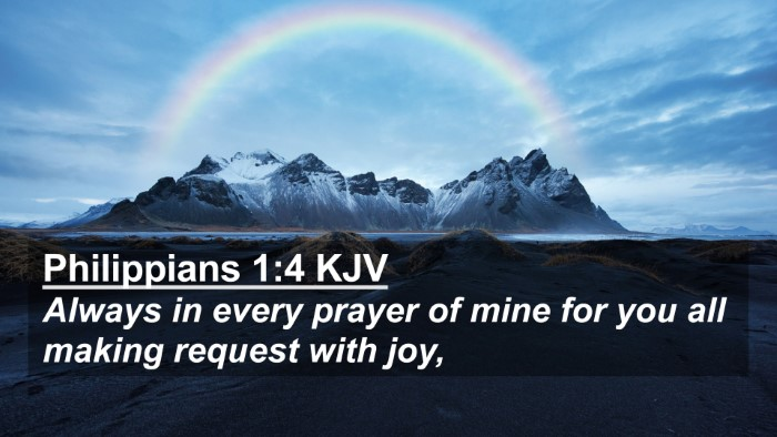 Picture 02 - Philippians 1:4 KJV 4K Wallpaper - Always in every prayer of mine for you all making - 4K Wallpaper Bible Verse