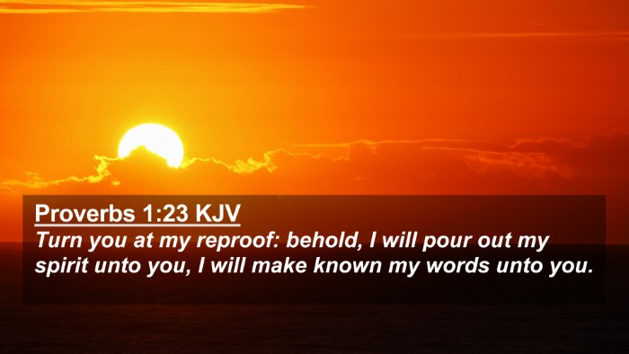 Picture 02 - Proverbs 1:23 KJV 4K Wallpaper - Turn you at my reproof: behold, I will pour out - 4K Wallpaper Bible Verse