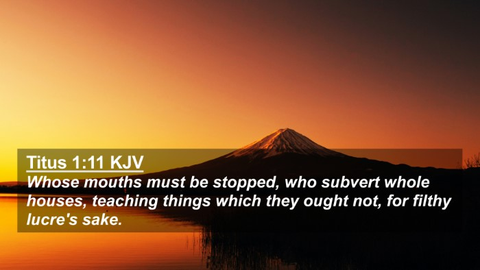 Picture 02 - Titus 1:11 KJV 4K Wallpaper - Whose mouths must be stopped, who subvert whole - 4K Wallpaper Bible Verse