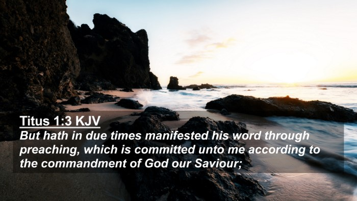 Picture 02 - Titus 1:3 KJV 4K Wallpaper - But hath in due times manifested his word through - 4K Wallpaper Bible Verse