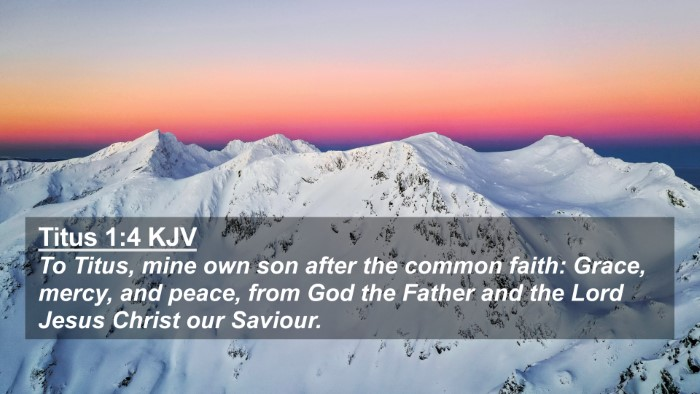 Picture 02 - Titus 1:4 KJV 4K Wallpaper - To Titus, mine own son after the common faith: - 4K Wallpaper Bible Verse