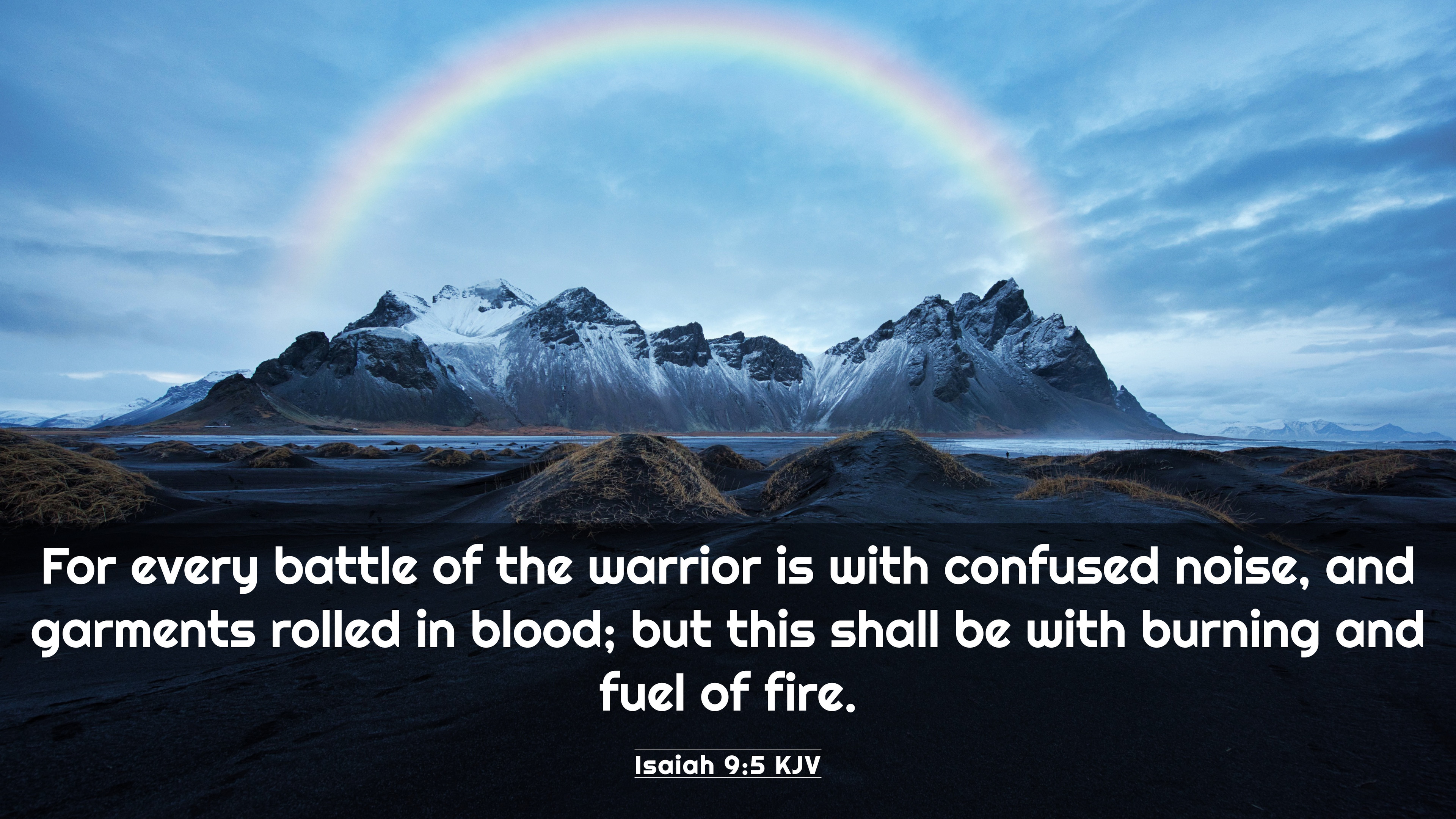 Isaiah 9:5 KJV 4K Wallpaper - For every battle of the warrior is with  confused