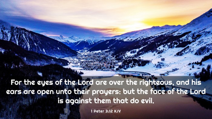 Picture 03 - 1 Peter 3:12 KJV 4K Wallpaper - For the eyes of the Lord are over the righteous, - 4K Wallpaper Bible Verse