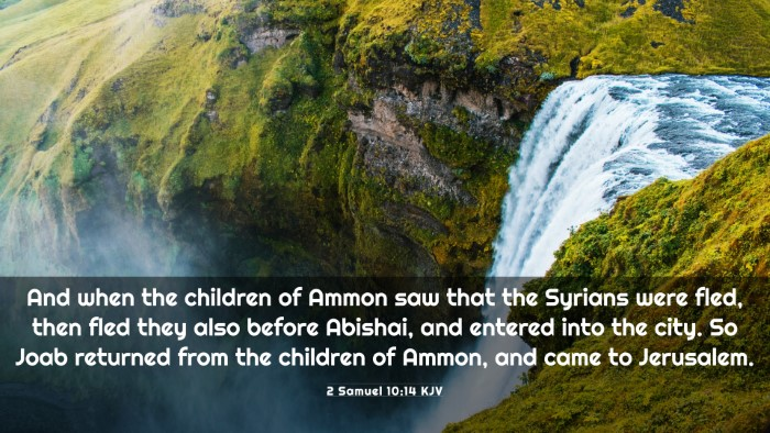 Picture 03 - 2 Samuel 10:14 KJV 4K Wallpaper - And when the children of Ammon saw that the - 4K Wallpaper Bible Verse