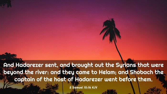 Picture 03 - 2 Samuel 10:16 KJV 4K Wallpaper - And Hadarezer sent, and brought out the Syrians - 4K Wallpaper Bible Verse